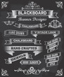 Collection of banners and ribbons on a black background