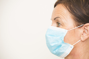 Portrait medical nurse with mask