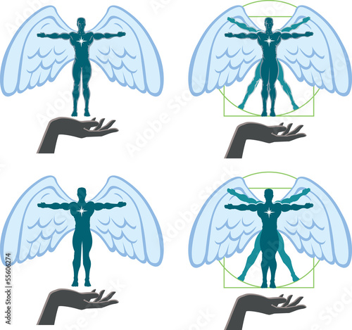 Angel/Vitruvian man