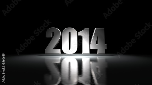 Happy new Year 2014, 3d illustration.