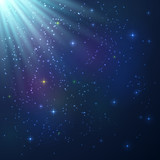 Bright colorful shining cosmic background
