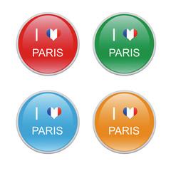 Iconos para simbolizar Me gusta París