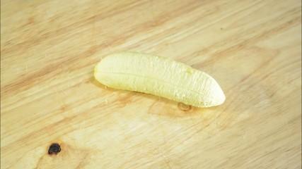 Banana cut stop motion loop [HD]