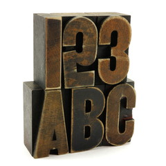 123 and abc educational concept