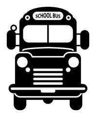 School Bus icon, vector illustration