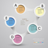 Fototapety vector abstract 3d paper infographics
