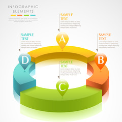 vector abstract 3d paper infographics
