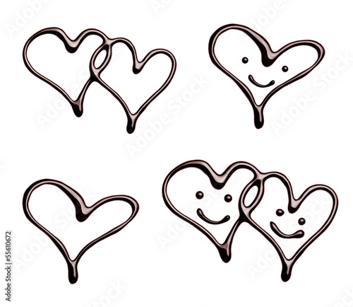 chocolate heart love valentine day