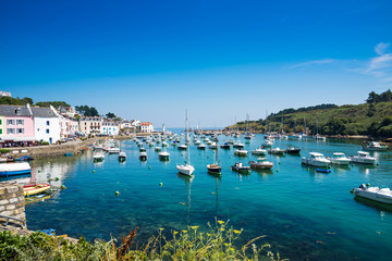 Port of Sauzon at Island Belle Ile an Mer, France