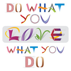 Do What You love - Citation - Lettres décoratives - en Anglais