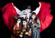 group of people on the Halloween party - 55612074