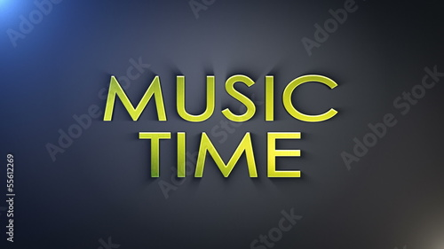 Music Time Gold Text, with Final Explosion, Loop