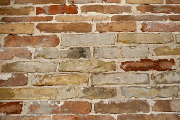 muro di mattoni, mattone rosso