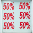 Red sale signs