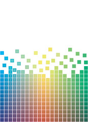 colorful falling pixels vector illustration