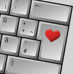 "Computer Tastatur "" Love """