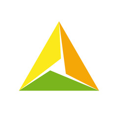 Vector logo triangle