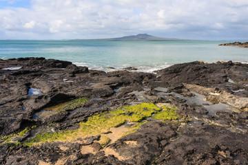 volcanic rocks on North Shore coast