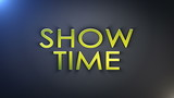 Show Time Gold Text, with Final Explosion, Loop