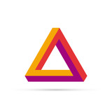 Vector logo triangle 3D