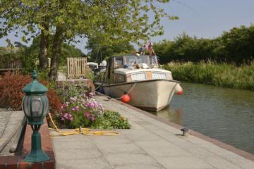 Honeystreet Wharf near Devizes. Wiltshire. England