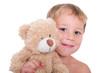 Kleiner Junge Mit Teddybär