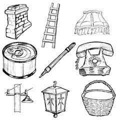 set of home related illustration