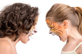 Face painting, felines poster