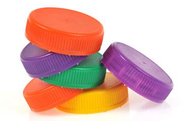 Bouchons de couleur en plastique