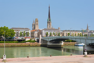 Sena embankment in Rouen