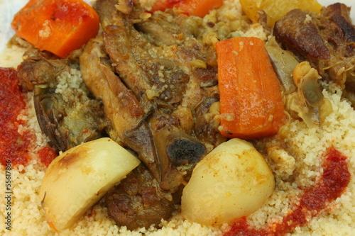 Couscous à la viande et aux légumes