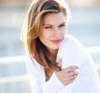 Hot Girls Wearing Sweaters - hilarious brunette smiling girl