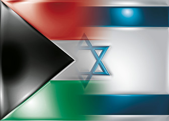 isralel palestine flag