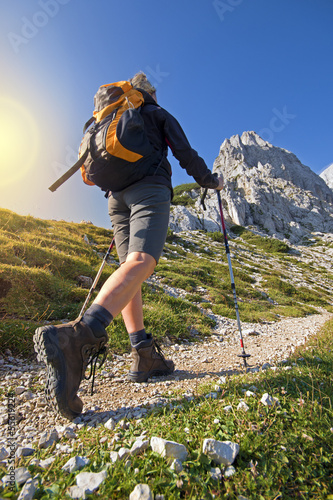 Tuinposter Alpinisme Hiking