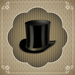 Vintage sticker with top hat.