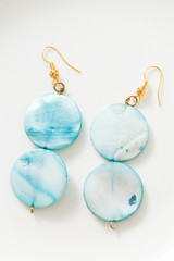 mother-of-pearl mineral earrings