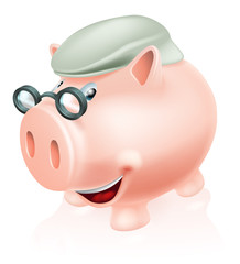 Pension plan savings concept