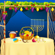 Sukkah for celebrating Sukkot