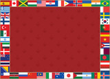 royal lily background with world flags frame