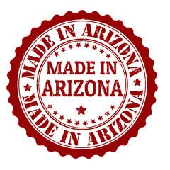 Made in arizona stamp