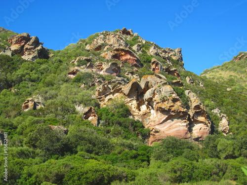 formas geológicas en arenisca
