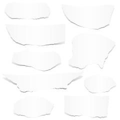 Sammlung - weiße Papierfetzen