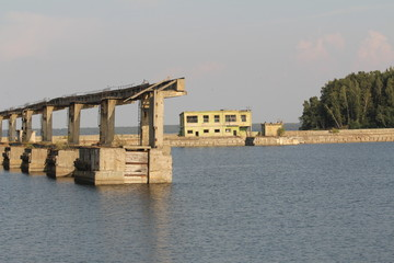 Abandoned former soviet  submarine base
