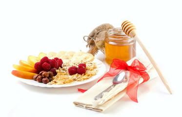 vitamins breakfast  with honey