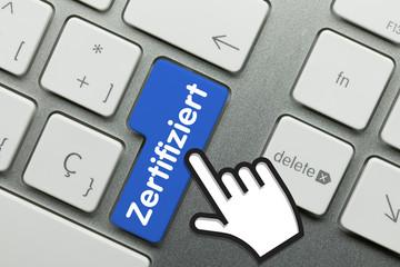 Zertifiziert Tastatur finger