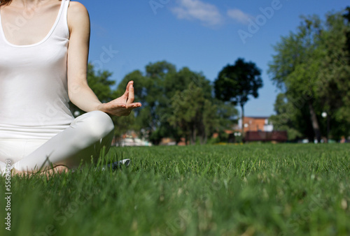 girl in yoga position