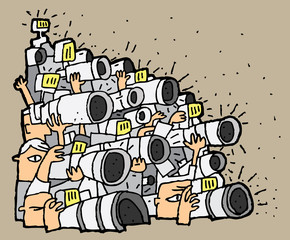 Paparazzi cartoon No.1