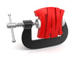 Tax in clamp (clipping path included)