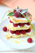 millefeuille with fresh raspberries and honey