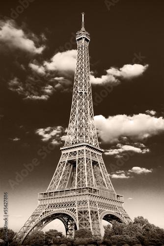 la Torre Eiffel retrò
